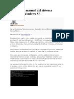 Reparación manual del sistema operativo Windows XP