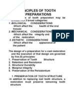 Principles of Tooth Preparations
