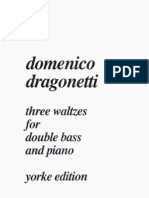 Domenico Dragonetti - Three Waltzes for Double Bass and Piano