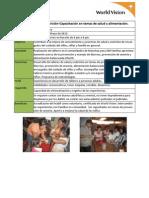 Salud y Nutrición-Capacitación en temas de salud y alimentación.
