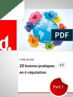 20 Bonnes Pratiques+1 en e-réputation (Livre Blanc) - extraits
