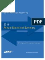 UDOT 2010 Annual Statistical Summary Web