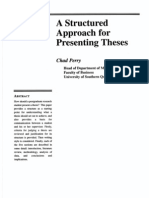 A Structured Approach for Presenting Thesis