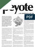 Bruket av Peyote - en omdebatterad väg