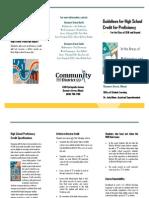 Proficiency Credit Brochure
