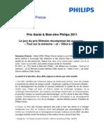 CP Prix Santé et Bien-être Philips 2011