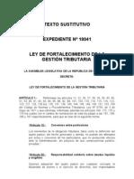 Texto Sustitutivo Fortalecimiento de la Gestión Tributaria