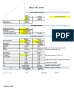 Cálculo de Placa Orificio
