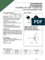 Stgw 20nc60 - n - Igbt - 600v 30a