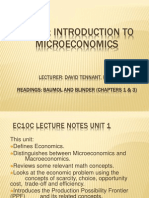Unit 1 Introduction to Microeconomics - DT-Posted