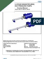 Manual Bomba Alta Presion (Osmosis FEDCO)