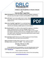 DRLC Flyer-Seminar & Legal Clinic on Rights of Students with Disabilities in Charter Schools