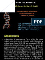 Genetica Forense, Ceuva, Agosto 2011