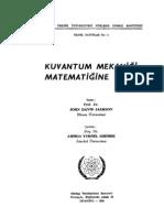 Kuantum Mekaniği Matematiğine Giriş