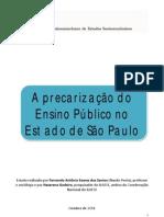 A precarização do Ensino Público no Estado de São Paulo