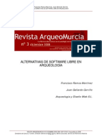 Alternativas de Software libre en Arqueologia Revista Arqueomurcia No. 3