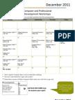 December 2011 Workshop Calendar