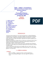 INSTRUÇÕES PARA BATISMO DA CONGREGACIONAL DO DEUS VIVO