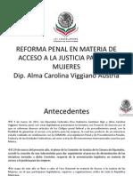 20-10-11 Reforma Penal en materia de acceso a la justicia para las mujeres