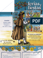 Programa XIV Fiestas de Primavera Polígono Industrial de Toledo del 1 al 8 de junio de 1986
