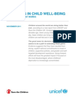 Progress in Child Well-being