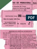 Tíke XIII Fiestas de Primavera Polígono Industrial de Toledo, del 2 al 9 de junio de 1985