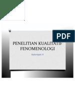PENELITIAN KUALITATIF FENOMENOLOGI
