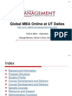 2004 TXDLA UTD Global MBA Online Program Presentation)