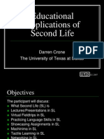 2007 WCET Educational Applications of Second Life Presentation)
