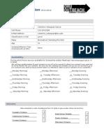 2011-2012 C.O TL Application