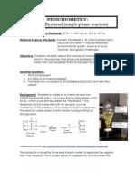 Stoichiometry Making Biodiesel (Single Phase)