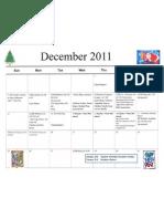 Dec 2011 Calendar