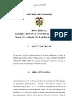 Sentencia Jesus Armando Arias Cabrales