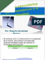 Efectos secundarios de la resistencia a la Insulina