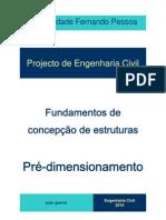 Pre-Dimensionamento UFP Sebenta