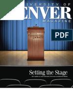 2011 Winter University of Denver Magazine