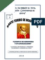 """CUADERNILLO 03 """"Santo Toribio de Mogrovejo"""""""