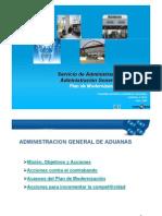 Plan de Modernizacion de Aduanas