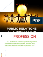 Public relation as Profession