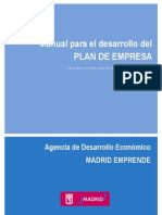 Manual Plan de Empresa Ayuntamiento de Madrid
