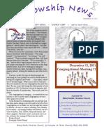 Nov 29, 2011 Fellowship News