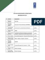 Lista de Participantes Acreditados - Megadiálogo 2011 (Final)