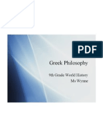 ancient greek philosophy 2009 ppt