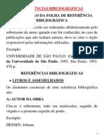 Aula REFERÊNCIAS BIBLIOGRAFICAS