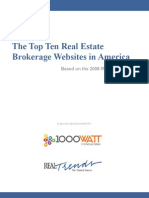 1000watt Top Ten Real Estate Brokerage Websites