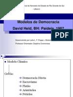 Modelos de Democracia David Held