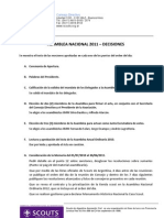 Asamblea Nacional Ordinaria 2011 - Decisiones