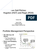 October 20th Sell Pitches