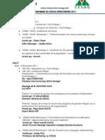 programme cesagwebcorner 2011 update