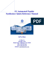 Peptide Synthesizer Quick Reference Guide